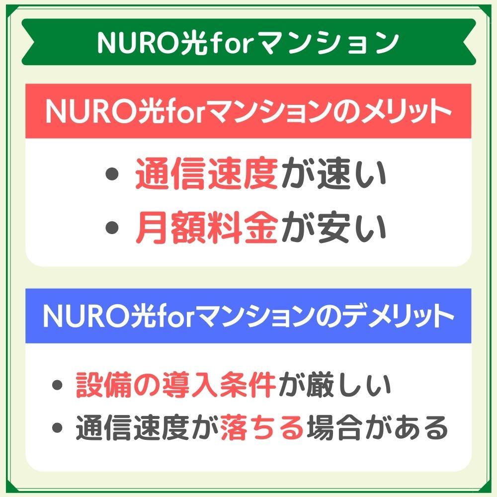 NURO光forマンションは月額料金の安さが魅力的!